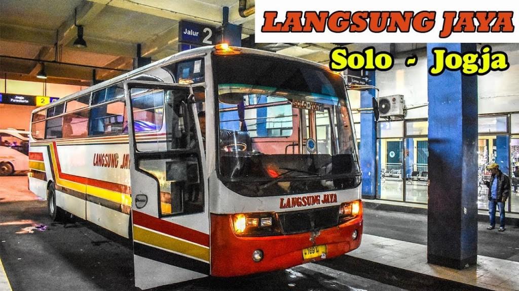 Bus Langsung Jaya jurusan Jogja-Solo. (foto: Nugroho Febianto, 2019)